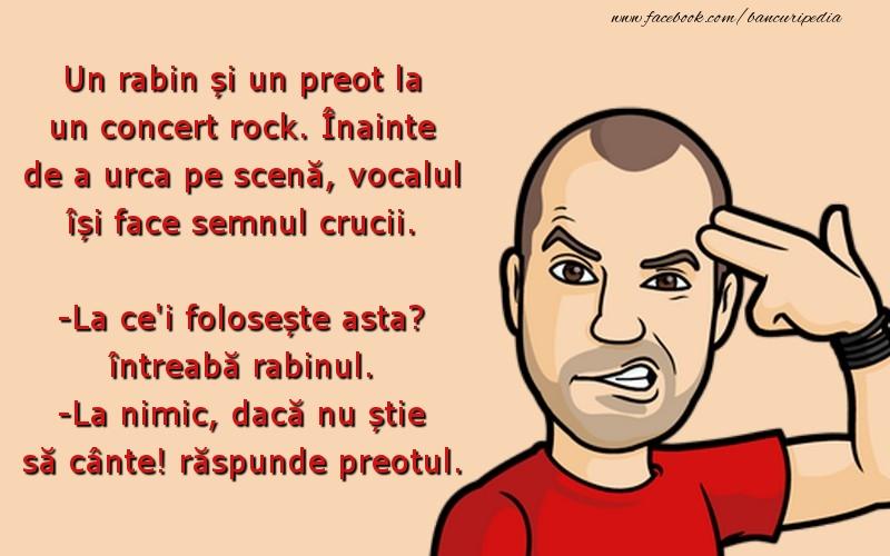 Bancuri cu Artisti - Un rabin și un preot la un concert rock.