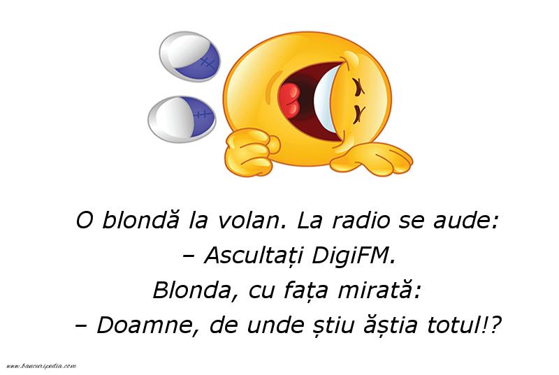 Bancuri cu Blonde - Ascultați DigiFM