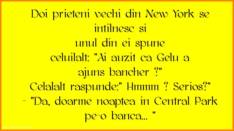 Bancuri cu Celebritati - Doi prieteni vechi din New York se intilnesc si