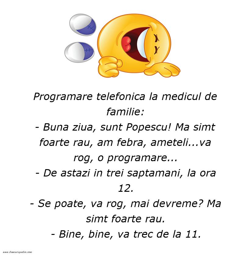 Bancuri cu Doctori - Programare la doctor