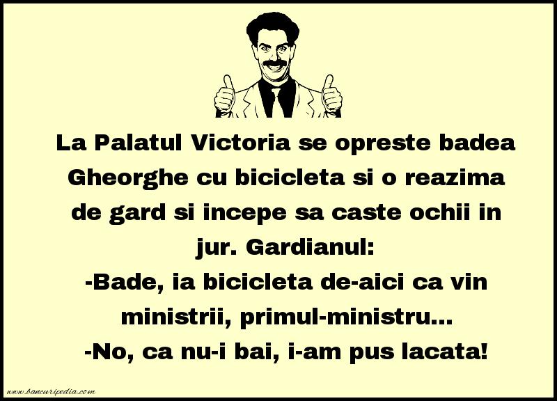 Bancuri cu Gheorghe - La Palatul Victoria se opreste badea Gheorghe
