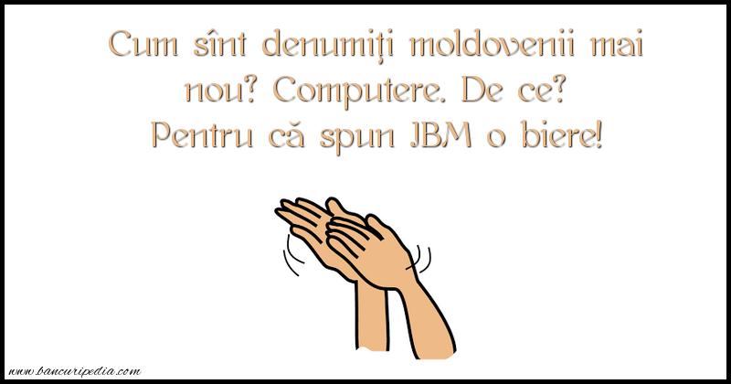 Bancuri cu Moldoveni - IBM o biere