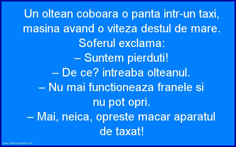 Bancuri cu Olteni - Cu taxiul