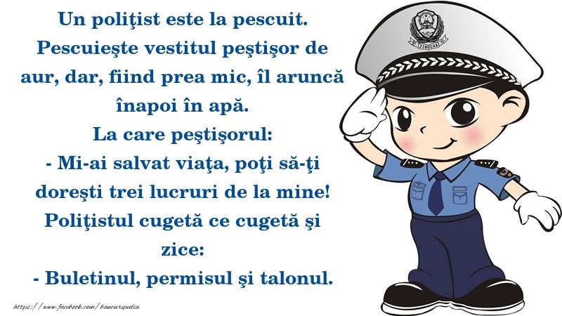 Bancuri cu Poliţişti - Buletinul, permisul şi talonul.