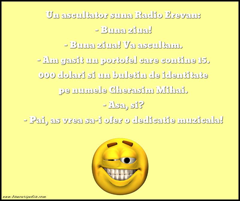 Bancuri cu Radio Erevan - Un ascultator suna Radio Erevan