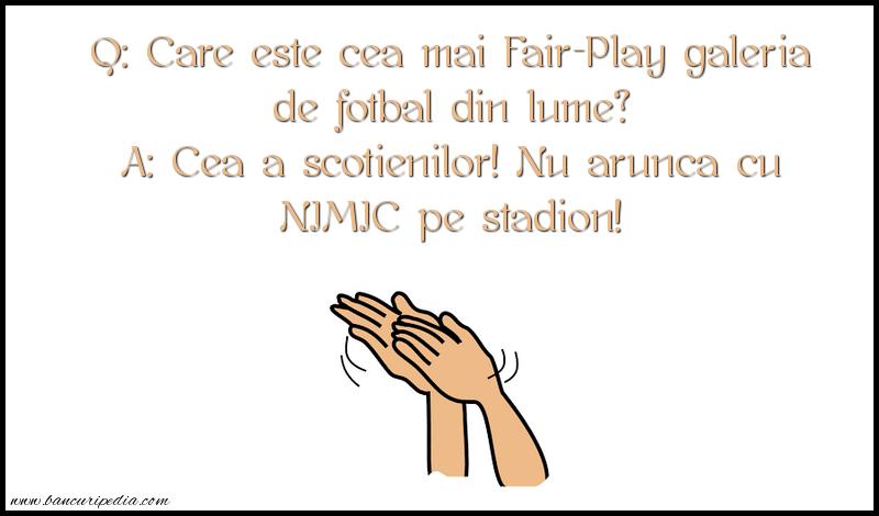 Bancuri cu Scotieni - Care este cea mai Fair-Play galeria de fotbal din lume