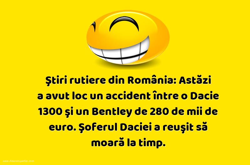 Bancuri cu Şoferi - Ştiri rutiere din România