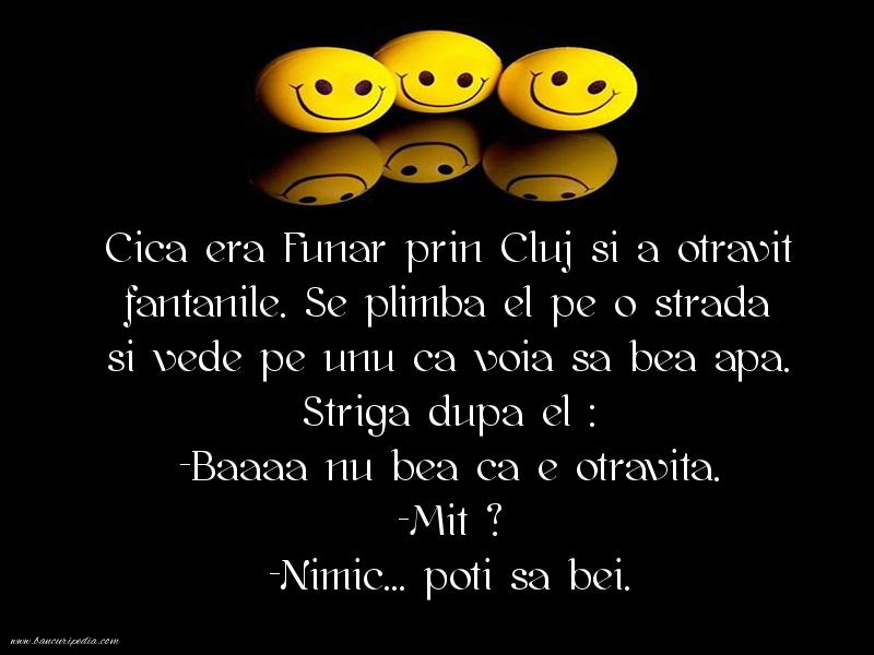 Bancuri cu Unguri - Cica era Funar prin Cluj si a otravit fantanile